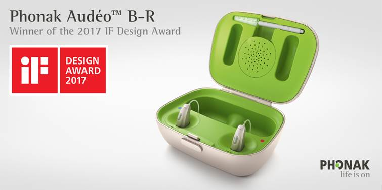 Phonak Audeo B-R Winner of the 2107 If Design Award