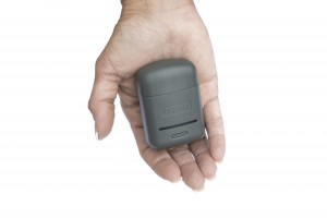The Styletto charger/charrying case is exceptionally small and carries 3 full charges.