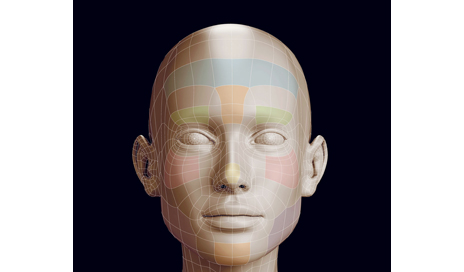 Polygonal girl head