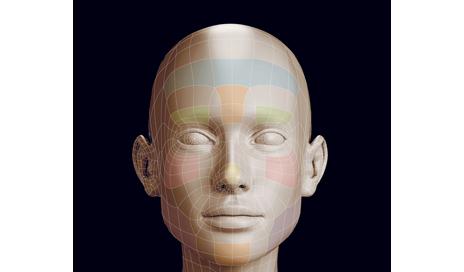 Polygonal girl head