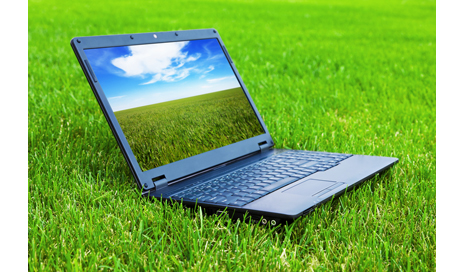 http://www.dreamstime.com/stock-photography-laptop-grass-image15139172