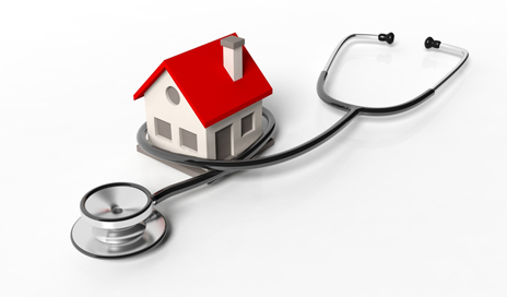 http://www.dreamstime.com/royalty-free-stock-photos-house-model-stethoscope-isolated-white-background-image55176208