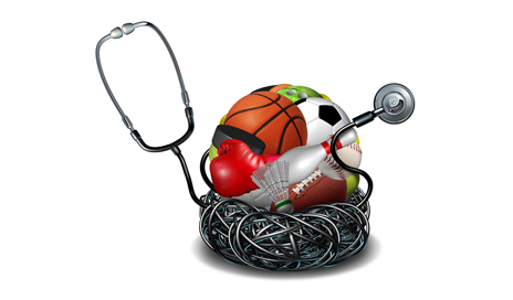 http://www.dreamstime.com/royalty-free-stock-image-sports-medicine-concept-athletic-medical-care-symbol-as-doctor-stethoscope-tangled-around-group-sport-equipment-icons-image50305726