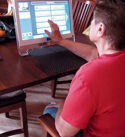 Client using an in-home system.