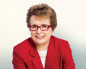 Billie Jean King is keynote speaker at the APTA's 2015 NEXT Conference. (Image courtesy of MYLAN World TeamTennis.)