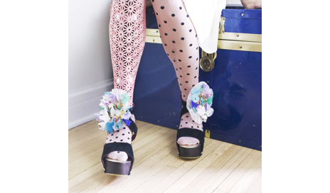 This is one example of the prosthetic leg covers that ALLELES Design Studio offers. (Photo courtesy of Alison Andersen)