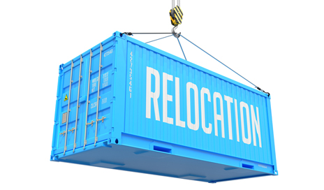 http://www.dreamstime.com/royalty-free-stock-photography-relocation-blue-hanging-cargo-container-hoisted-hook-isolated-white-background-image44848207