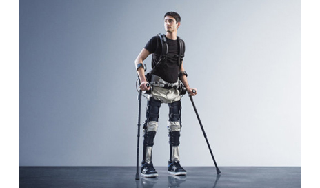 Steven Sanchez, wearing SuitX's Phoenix, was paralyzed from the waist down after a BMX accident. (Photo courtesy of SuitX)