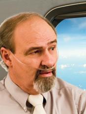 image of airline passenger on oxygen.