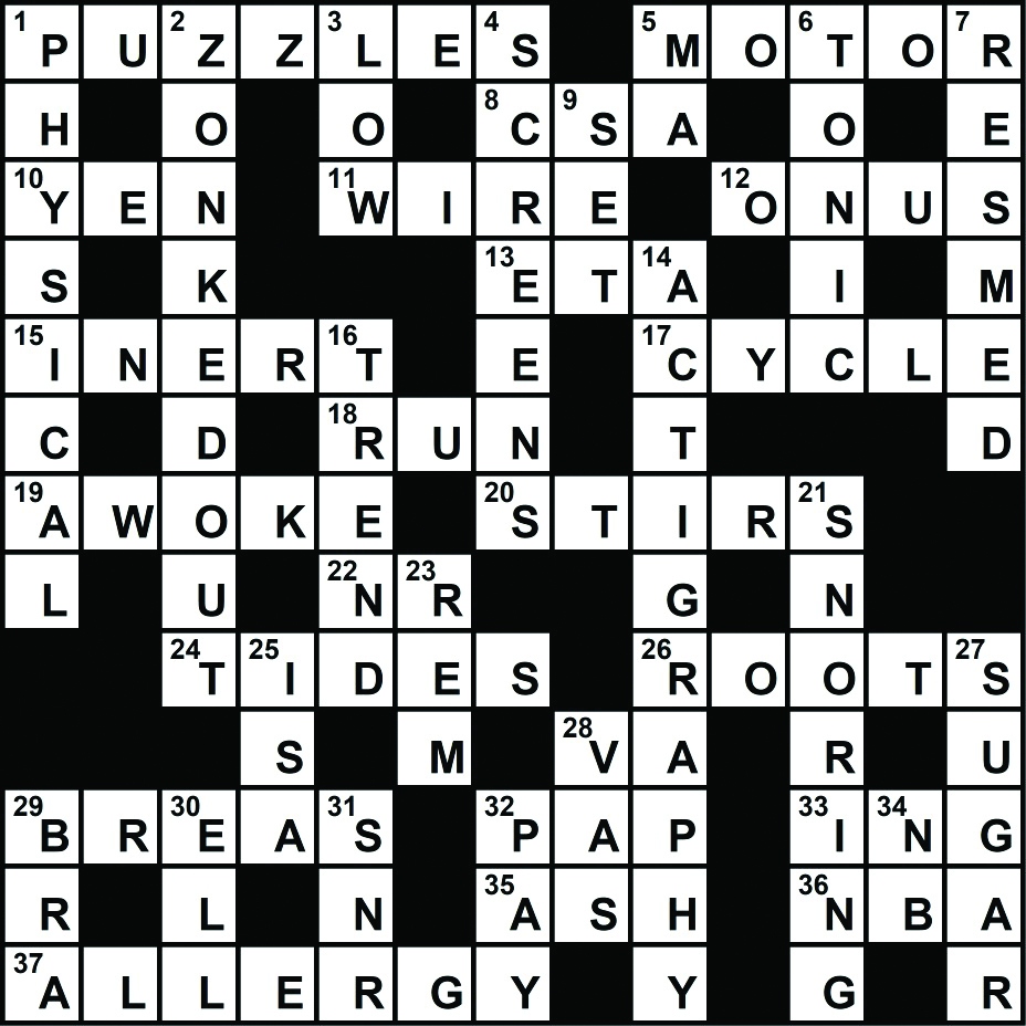 photograph regarding Sheffer Crossword Printable known as Early human beings crossword clue