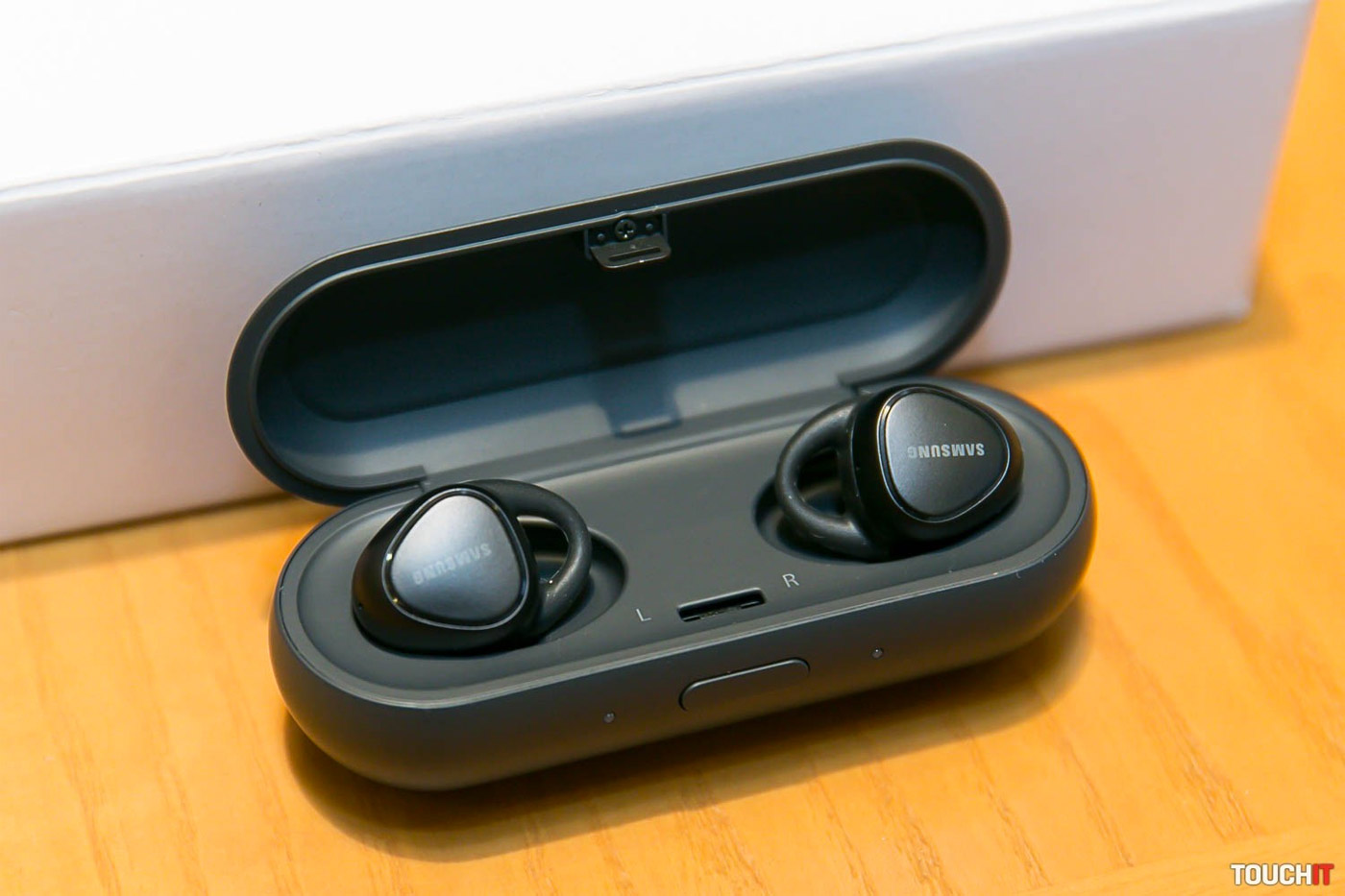 b167b0c51b3 IconX earbuds in case. Samsung's IconX earbuds come with a charging case