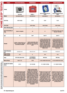 Home Sleep Testing (HST) Technology Guide (April 2015